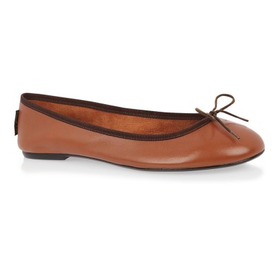 Classic Ballet  with brown leather and brown trim