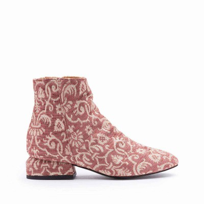 Jacquard fabric ankle boot