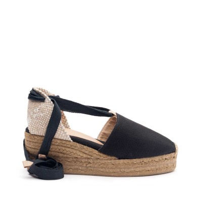 Canvas wedge espadrille