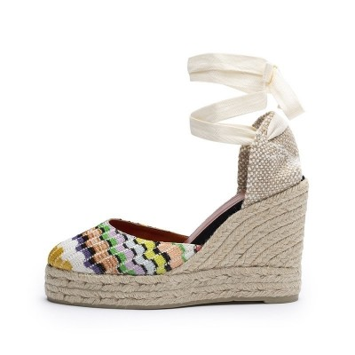 Carina wave fabric wedge espadrille 11cm by Missoni