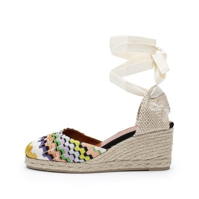 Carina wave fabric wedge espadrille 7cm by Missoni
